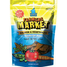 Plato Pet  Treats Farmers Market Salmon and Veggie Strips