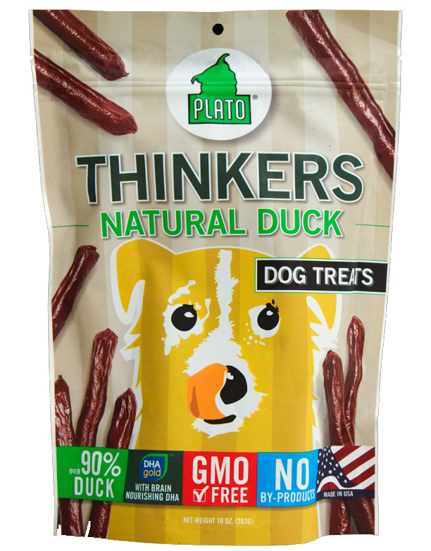 Plato Pet Treats Thinkers Duck