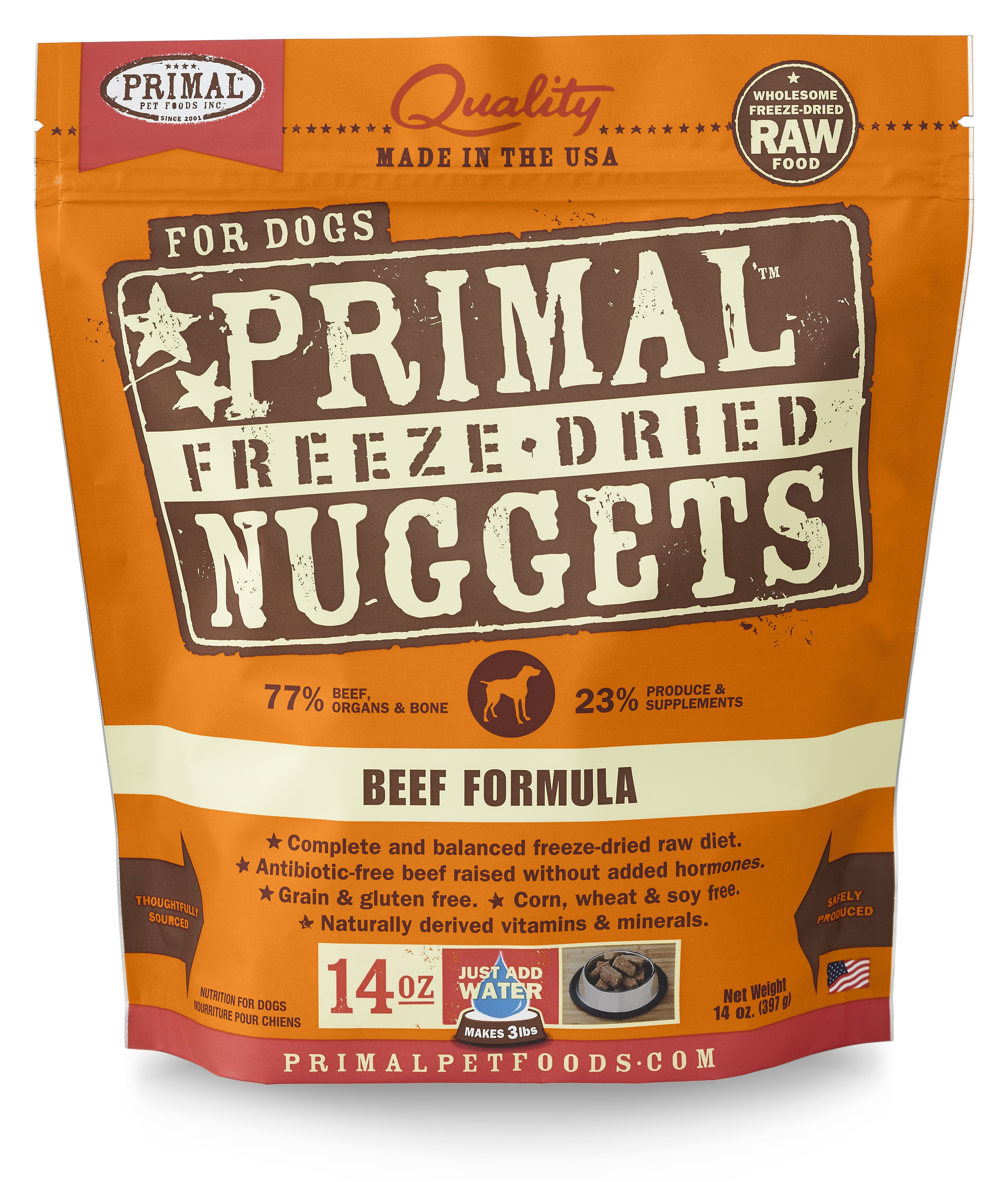 Primal Freeze Dried Canine Beef Formula