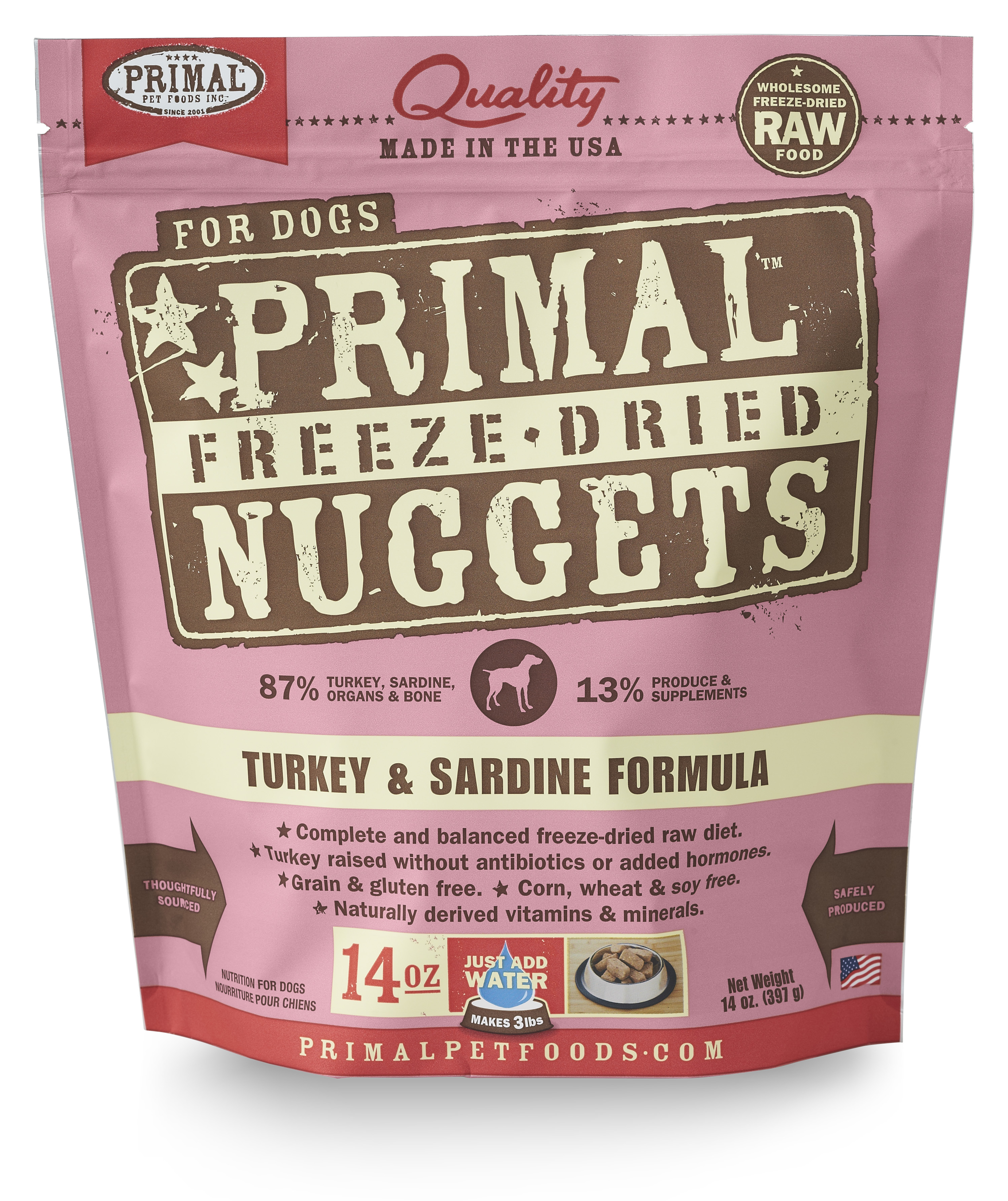 Primal Freeze Dried Canine Turkey and Sardine Formula