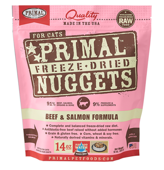 Primal Freeze Dried Feline Beef and Salmon Formula