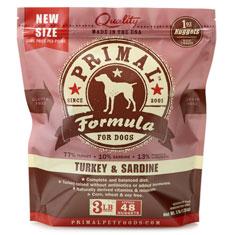 Primal Frozen Canine Turkey and Sardine Formula