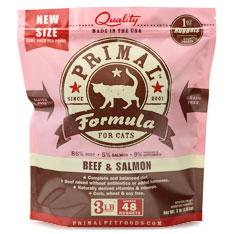 Primal Frozen Feline Beef and Salmon Formula
