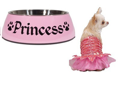 Princess Dog Bowl