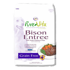 Pure Vita Grain Free Bison Dry Dog Food