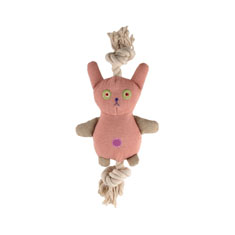 Simply Fido Basics Natural Canvas Bunny Organic Rope Toy