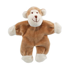 Simply Fido Beginnings Stuffless Monkey Organic Dog Toy