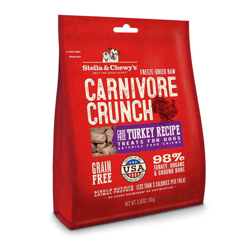 Stella and Chewys Carnivore Crunch Cage Free Turkey Treats