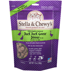 Stella and Chewys Freeze Dried Duck Duck Goose Dinner for Cats