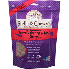 Stella and Chewys Freeze Dried Heavenly Herring and Tuna Dinner for Cats