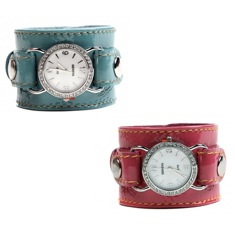 The Shabby Dog Watch Wrist Cuff Pink or Aqua