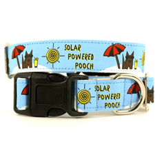 Wagging Green Solar Powered Pooch Collars