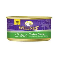 Wellness Cat Canned Cubed Turkey Recipe